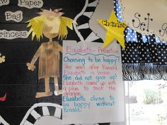 "Glyph Girls: ""Paper Bag Princess"" by Robert Munsch: One of my favorite kids' books! This teacher used the story to teach Habit Proactive. Covey Habits, School Leadership, School Counseling, Habit 1, Book Activities, Reception Activities, Leader In Me, Character Education, Classroom Inspiration"