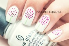 China Glaze White on White - purple tree dotticure nail art manicure
