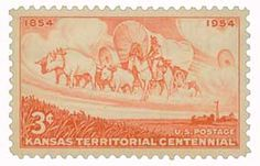 1954 3c Kansas Territory - Catalog # 1061 For Sale at Mystic Stamp Company