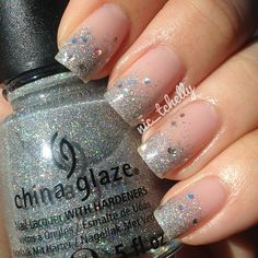 #Essie - Sugar Daddy as base with #ChinaGlaze - Glistening Snow & Techno for the tips | #nailsbynictchelly - @nic_tchelly- #webstagram
