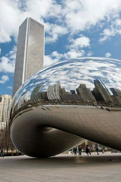 """Our first trip together was to Chicago and it holds a special place in my heart. Anish Kapoor, """"Cloud Gate"""" (""""The Bean"""") - Millennium Park ~ Chicago, Illinois Chicago Travel, Chicago City, Chicago Illinois, Travel Usa, Chicago Trip, Chicago Lake, Visit Chicago, Land Art, Places To Travel"""