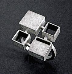 Bauhaus Ring: Hilary Hachey: Silver Ring - Artful Home