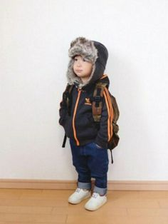 chaopanic typy アビエイターキャップ グレー 2歳の息子にはまだ少し大きいですが あ