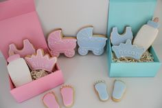 Perfect boxes for baby shower gifts.