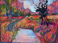 Erin Hanson's colorful landscapes present a new take on Impressionism. From Saatchi Art