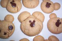 Peanut Butter Chocolate Teddy Bear Cookies