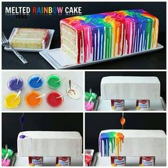 What a great way to celebrate the cooperation between Green and the other colors of the rainbow in our award-winning book, Where's Green? Simply melt white chocolate, add  food color and drizzle over your loaf cake in rainbow order. Enjoy!!  http://www.entelechyed.com/where_s_green_