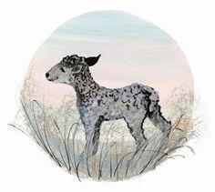 Spring Lamb     P. Buckley Moss