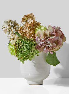 1 Decorative Curve Glass Bottle Vase Purple Yellow Tall Table Display Retro Deco