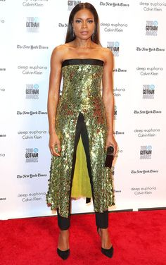 Naomie Harris in Monse attends the Gotham Independent Film Awards. #bestdressed