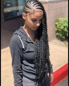 30 Popular Goddess Braids Ideas For Ravishing Natural Hairstyles 30 Popular Goddess Braids Ideas For Ravishing Natural Hairstyles – box braids hairstyles – Lemonade Braids Hairstyles, Feed In Braids Hairstyles, Braided Hairstyles For Black Women, Baddie Hairstyles, Braids For Black Hair, Weave Hairstyles, Girl Hairstyles, Protective Hairstyles, Protective Styles