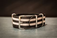 NATO Regimental Strap Black and Gray - James Bond