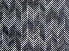 Nemo Hex & Herringbone Small Herringbone in Seta Nera