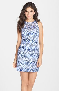 BB Dakota 'Charlotte' Embroidered Lace Sheath Dress available at #Nordstrom