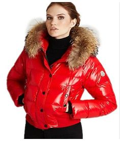 Moncler Jacket Women Red jacketsdeal.co.uk...