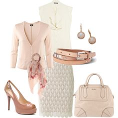 Dusty Rose with Lace skirt. Cute dressy outfit.