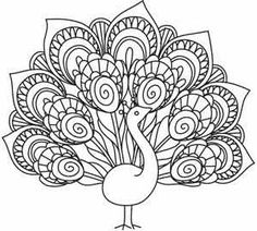 Delicate Peacock_image..embroidery pattern