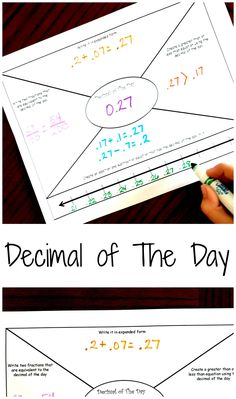 Decimal of The Day - A FREE printable to Review Decimals Daily