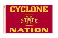 IOWA STATE CYCLONE NATION 3X5 FLAG