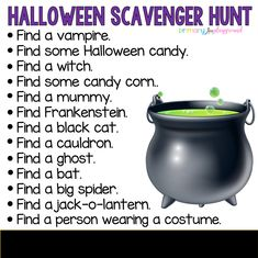 A fun halloween scavenger hunt for the family!