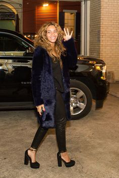Beyoncé steps out for her sister Solange's pre-wedding party.