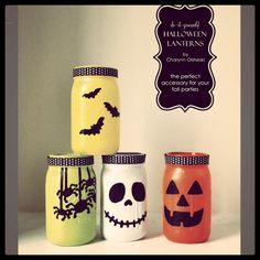 DIY Halloween Lanterns from masons