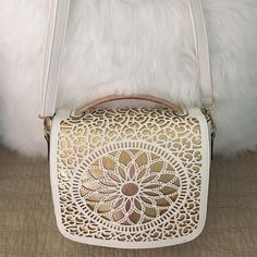 Laser cut crossbody! Bought this cute purse from a local boutique like 6 months ago and still have not used it so it's time to sell it. Melle Bianco Bags Crossbody Bags