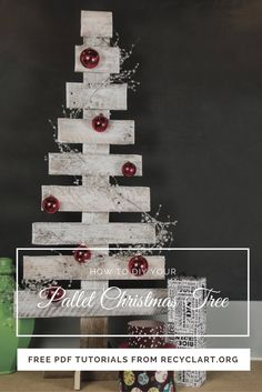 This tutorial will teach YOU how to make a Pallet Christmas Tree in 7 Easy Steps with everyday tools! Decorate …