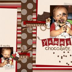 Kassie Scraps: Banner Alpha and Chocolate Lovers by Chelle's Creations