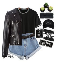 """""""#SheIn"""" by credentovideos ❤ liked on Polyvore featuring Yves Saint Laurent, Alexander McQueen, October's Very Own and Bella Freud"""