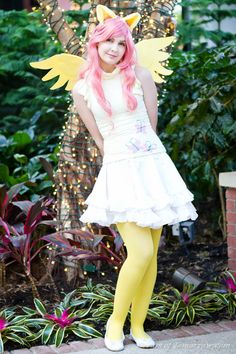 Fluttershy manages to pull off a cute pose! Origin: My Little Pony - Friendship is Magic Character: Fluttershy Cosplayed by: Event: Katsucon 2012 Photo . Care Bear Costumes, Girl Costumes, Cosplay Costumes, Cosplay Ideas, Amazing Cosplay, Best Cosplay, Fluttershy, Mlp, Girly Outfits