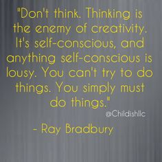 """Happy Monday! Childish! wants to remind you all not to overthink things this week. When it comes to putting action into those creative thoughts there is no """"trying to do it"""" you must simply DO IT! We would love to support your thoughts and help you execute your plans! Please visit our website www.thinklikeachild.com and share your ideas with us!  #thinklikeachild #innovation #action #mondays #creativity #childish"""