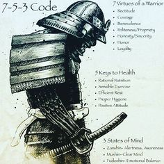 """The 7-5-3 code: Some solid principles to live by. #753 #warrior #strength…"