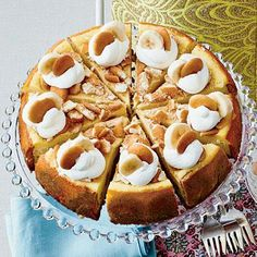 Banana Pudding Cheesecake | This sinfully sweet dessert is the perfect blend of fresh bananas, creamy cheesecake, and crunchy vanilla wafers. | SouthernLiving.com (Favorite Desserts Mom)