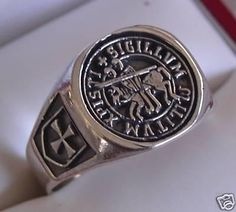 The actual wax seal ring of the Templar Knights