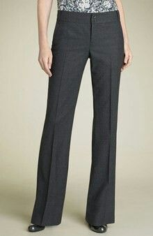 Trousers: straight or boot leg, wide leg only if legs are long