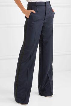 Strom Silk-satin Wide-leg Pants - Burgundy The Row Eastbay uTfQ5x