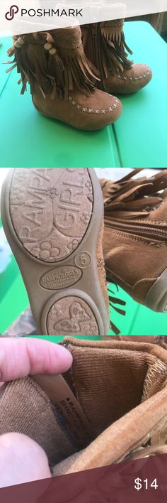 Toddler Moccasin boots NWOT Rampage toddler boots, so sad my daughter never got to wear them Rampage Shoes Moccasins