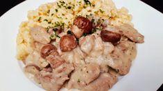 Tejszínes gombás pulykacomb / szoky konyhája / Potato Salad, Potatoes, Meat, Chicken, Ethnic Recipes, Food, Food Food, Potato, Essen
