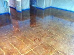stained cement floors  | Acid Stained Concrete Restoration Highland Park, TX | ESR Concrete ...