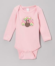 Another great find on #zulily! Pink Turkey Bodysuit - Infant #zulilyfinds