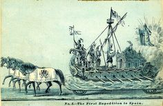No. 5  The First Expedition to Spain . Mardi Gras Floats . 1880s