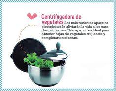Centrifugadora de vegetales: Los más recientes aparatos electrónicos le aliviarán la vida a los casa dos primerizos. Este aparato es ideal para obtener hojas de vegetales crujientes y completamente secas.