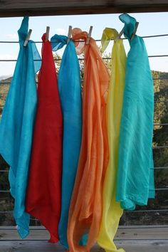 dye your own play silks - the ones in our house were played with till they fell to shreds! Good gift idea!