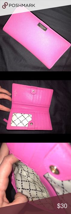 KATE SPADE PINK WALLET ATE SPADE PINK WALLET. Used for a while. Some wear and minor marks kate spade Bags Wallets