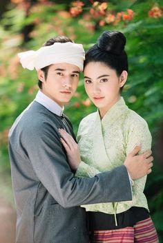 Traditional Thai Clothing, Traditional Dresses, Narnia 4, Mario Maurer, Myanmar Dress Design, Thai Dress, Beautiful Asian Women, Country Girls, Couple Photography