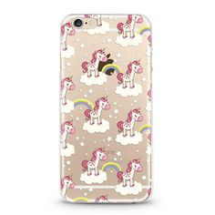 Rainbows & Unicorns  iPhone 6 case, iphone 6s case transparent clear case