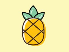 Pineapple designed by Monica Dinculescu. Connect with them on Dribbble; the global community for designers and creative professionals. Pineapple Icon, Pineapple Design, Pineapple Pattern, One Direction Logo, Pineapple Clipart, Pineapple Drawing, Pineapple Illustration, Pineapple Wallpaper, Graphic Illustration