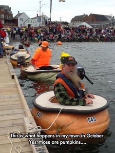 Pumpkin Boat Race... I will find you and I will watch you