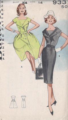 Vintage 1960's Misses' One Piece Dress by CottageLaneTreasures, $14.00